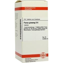 PANAX GINSENG D 6 Tabletten 200 St
