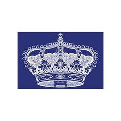 Rayher Siebdruckschablone Krone blau