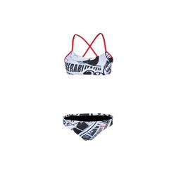 ZAOSU Bustier-Bikini Urban Art Schwimmbikini Damen 34