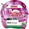 SONAX Pink Flamingo Scheibenreiniger, Gebrauchsfertiger Scheibenreiniger mit exotisch fruchtigem Duft, 3 Liter - Beutel