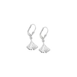 Gallay Paar Ohrhänger Ohrhänger Ohrringe 28x12mm Ginkgo-Blatt glänzend Silber 925