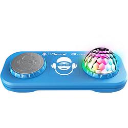 Partybox mit Mixer, Discokugel & Bluetooth XD2 blau