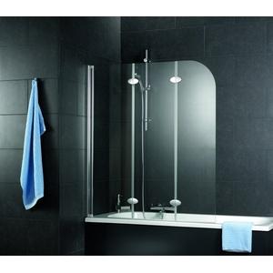 Schulte Komfort Badewannenfaltwand 3-teilig Depoli light Chromoptik 1250mm - D3354 41 31 Links