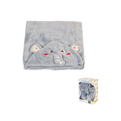 Babydecke Babydecke Bonito Elefant, Moni, Größe 130 x 90 cm, Kuscheldecke aus Fleece Kapuze