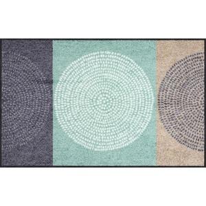 Salonloewe Fußmatte grau/mint Größe 75x150 cm