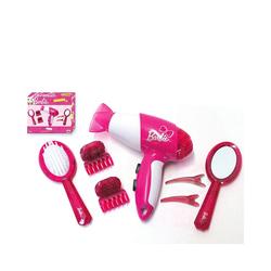 Klein Frisierkopf Barbie Frisierset, mit Fön/Haartrockner, Styling