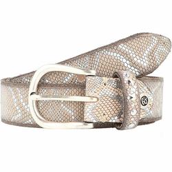 b.belt Fashion Basics Sabina Gürtel Leder vanille/silbermetallic 100 cm