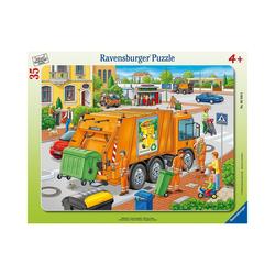 Ravensburger Puzzle Rahmen-Puzzle, 35 Teile, 32,5x24,5 cm, Müllabfuhr, Puzzleteile