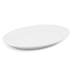 Walküre Porzellan Tortenplatte Platte oval, 23cm Buffet Weiß Walküre Porzellan