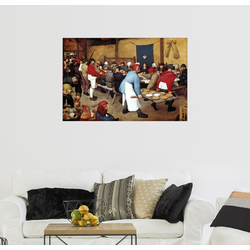 Posterlounge Wandbild, Bauernhochzeit 100 cm x 70 cm