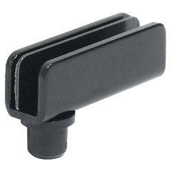 Häfele Glastürscharnier ,110°, 40mm,  Stahl / schwarz