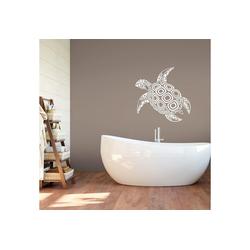 Wandtattoo Schildkröte weiß