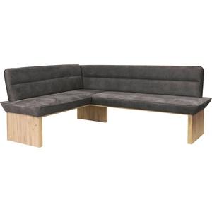 Premium collection by Home affaire Eckbank Beluna, mit Wellenunterfederung im Sitz grau Eckbänke Sitzbänke Stühle