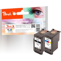 Peach kompatibel zu Canon PG-545 XL schwarz + CL-546 XL CMY (PI100-226)