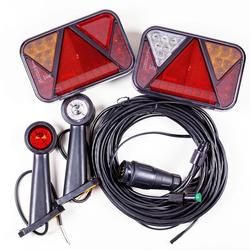 Rückleuchten-Set: Rückleuchten LED Fristom FT-270, Umrissleuchten LED Horpol LD 726 + 5,5m 13-poliger Kabelbaum