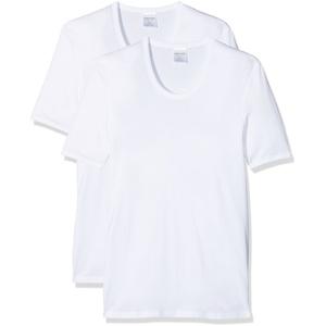 Schiesser 2 StÃ1⁄4ck ( Doppelpack ) Herren 1/2 Arm Unterhemd Feinripp - Weiß: Größe: XL