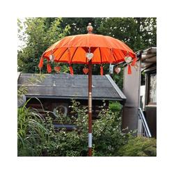 Oriental Galerie Sonnenschirm Bali-Sonnenschirm 90 cm Orangee, Handarbeit
