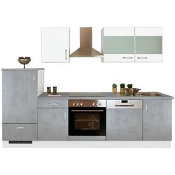 Menke Küchen Küchenzeile Mara, mit E-Geräten, Breite 280cm