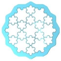 LEKUE Ausstechform Cookie Puzzle blau