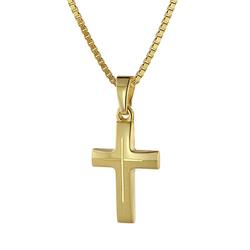Halskette mit Kreuz Kinder Gold 333/8 Karat Halsketten gold Gr. 42,0  Kinder