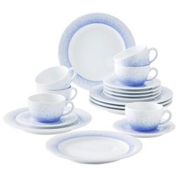 Kahla Geschirr-Set Kaffeeservice, Wir machen Blau (18-tlg), Porzellan blau