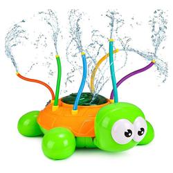 kueatily Wassersprinkler für Kinder, Schildkröten-Wassersprühspielzeug mit 6 Schläuchen, Kreatives Sprinkler-Kinderspielzeug, rotierendes Wassersprinklerspielzeug für Garten, Rasen, Sommer, Outdoor Badespielzeug
