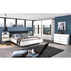 Rauch orange Schlafzimmer Elissa in weiß/graphit