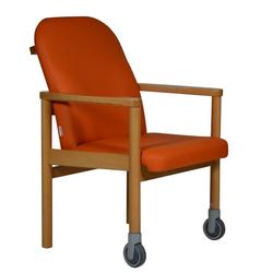Devita Stuhl Pflegestuhl Trippelstuhl Seniorenstuhl LÜBECK mit Rollen vorne bis 120 kg