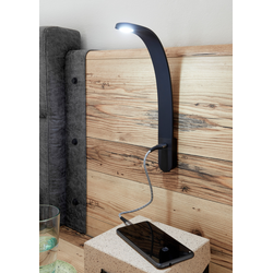 Schlafkontor LED Leselampe, 2 St., Neutralweiß schwarz Leselampen Lampen Leuchten Leselampe