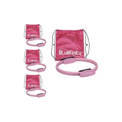 relaxdays Pilates-Ring 4 x Pilates Ring pink