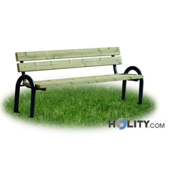 Sitzbank mit Holzplanken als Stadtmobiliar h287_124