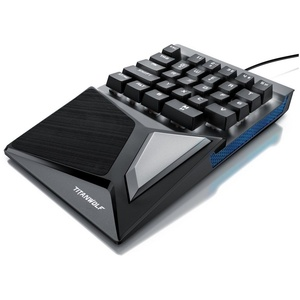 Titanwolf mechanische Keypad Tastatur mit 28 Tasten Gaming Einhandtastatur schwarz