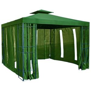 habeig Pavillon Seitenteile mit Fenster & Reißverschluß an jeder Seite 4Stück ohne Pavilliongestell (Dunkelgrün #35)