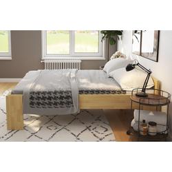 bv-vertrieb Bett erhöhtes Bett, erhöhtes Doppelbett 180x200 Ehebett Buche mit Einhängetischen Senioren-Doppelbett - (2993) 188 cm x 208 cm x 55 cm