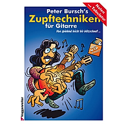 Peter Bursch's Zupftechniken für Gitarre  m. Audio-CD. Peter Bursch  - Buch
