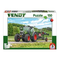 Schmidt Spiele Puzzle Fendt 211 Vario mit Fendt Wender Twister, 150 Puzzleteile bunt