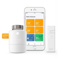 Tado Heizungsthermostat Starter Kit V3+ inkl Bridge weiß
