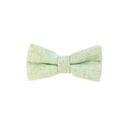 DonDon Fliege DonDon Herren Fliege 12 x 6 cm Baumwolle (1-St) bereits gebunden, verstellbar, Tweedlook grün