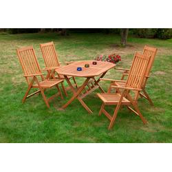 MERXX Gartenmöbelset Vitoria beige Gartenmöbel-Sets Gartenmöbel Gartendeko
