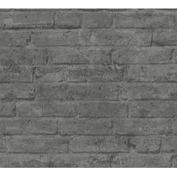 living walls Vliestapete Elements, Steinoptik, Backstein grau