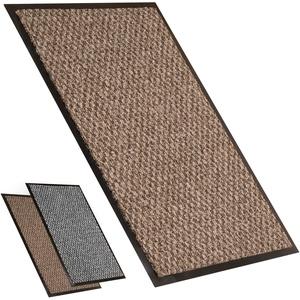 Fußmatte groß | Fußmatten Außenbereich oder Fussmatte Innen Waschbar für Ihren Eingang | Saugfähige Fussmatte die unter Türen passt | Schmutzfangmatte groß | Braun/Beige 80x120 cm