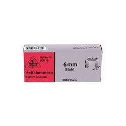 HaWe Tackerklammern, Stahl-Klammern für Hammertacker, System 53/530 - 5000 Stück - Größe:8 mm