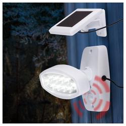 etc-shop LED Baustrahler, Design LED SOLAR Außen Wand Leuchte Garten Terrassen Strahler Beleuchtung weiß