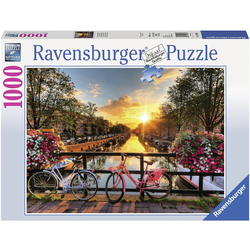Ravensburger Puzzle Fahrräder in Amsterdam, 1000 Puzzleteile, Made in Germany