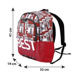 BESTLIFE Rucksack TASKU rot mit Laptopfach bis 15,6 Zoll