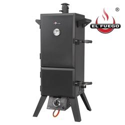 El Fuego Gasgrill, Mit Thermometer, Barbecue Smoker BBQ Räucherofen Dampfgarer
