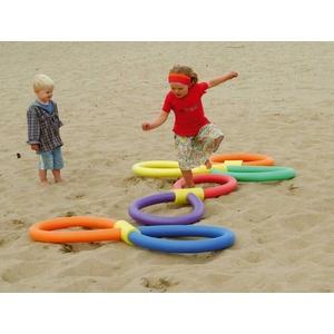 Schwimmnudel Poolnudel Ring Set 2 | 7 x Schwimmnudel inkl. 3x4 Loch + 1x1 Loch Verbinder | Comfy NMC Qualitätsprodukte