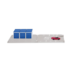 Siku Spielzeug-Auto siku World Garagen und Parkplatz mit Fahrzeug 1:50