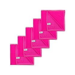 Kochblume Geschirrtuch Poliertuch 50 x 60 cm, (Spar-Set, 5-tlg), 280g/qm Qualtität rosa