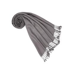 PURSET Schal Stola mit Ornamentbordüre grau